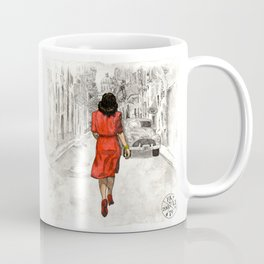 Woman in Red Dress Coffee Mug