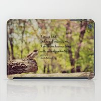 jane eyre iPad Cases featuring I Am No Bird Jane Eyre Charlotte Bronte Quote by KimberosePhotography