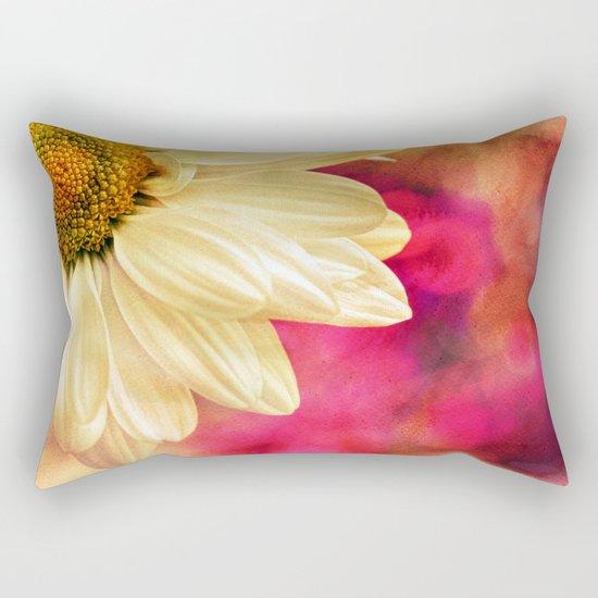 Daisy - Golden on Pink Rectangular Pillow
