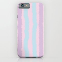 Pink Purple and Blue Jiggly Pastel Line Pattern iPhone Case