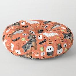 Dachshund dog breed halloween cute pattern doxie dachsie dog costumes Floor Pillow