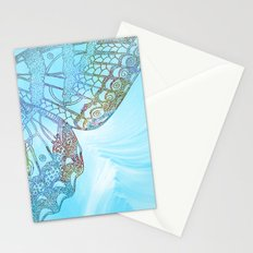 Colorful Abstract Butterfly Design Stationery Cards