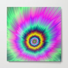 Colorful Comet Metal Print