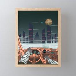 Night driver Framed Mini Art Print