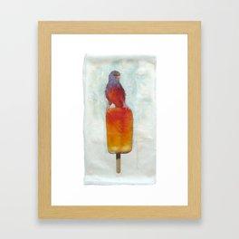 Orange Canary Popsicle Framed Art Print
