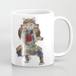 Steampunk samurai cat with 2 pistols Coffee Mug