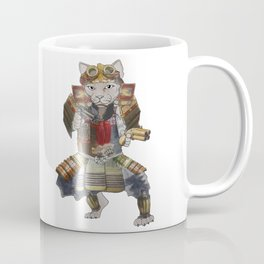Steampunk samurai cat with 2 pistols Coffee Mug
