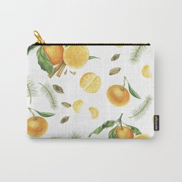 Tangerines, spices and branches of tree Carry-All Pouch