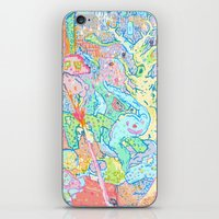 dragons iPhone & iPod Skins featuring Dragons by Nick Bright