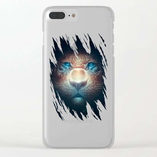 Red Tiger Clear iPhone Case