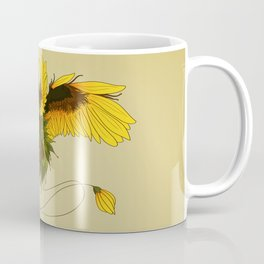 Sunflower Wyvern Coffee Mug
