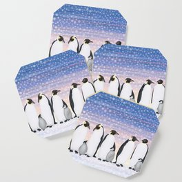emperor penguin colony Coaster