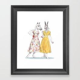 Bestial ladies Framed Art Print