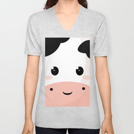 Cute Cow Unisex V-Neck
