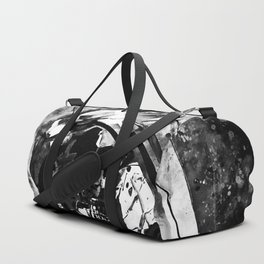 astronaut in space splatter watercolor black white Duffle Bag
