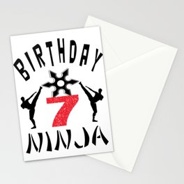 Kids Ninja 7th B-Day Gifts for Boys And Girls Stationery Cards