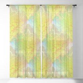 Damask Tapestry Pattern I Sheer Curtain