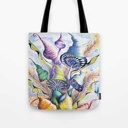 Wizard Mushrooms Tote Bag