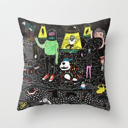 buenos deseos Throw Pillow