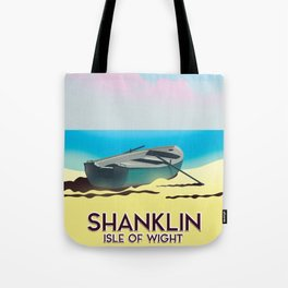 Shanklin, Isle of Wight travel poster. Tote Bag