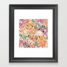 Because Pugs Watercolor Framed Art Print