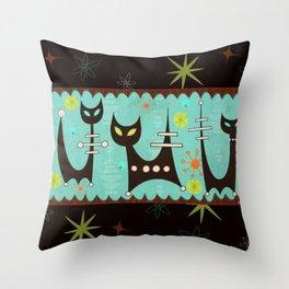Atomic Cats Throw Pillow