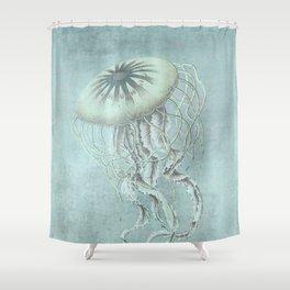 Jellyfish Underwater Aqua Turquoise Art Shower Curtain