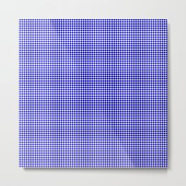 Blue Gingham Metal Print