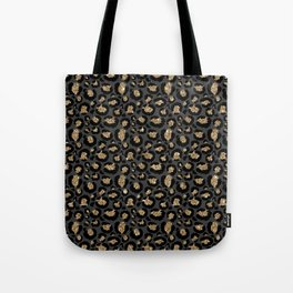 Black Gold Leopard Print Pattern Umhängetasche
