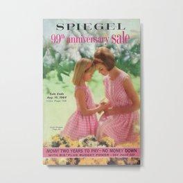 1964 - 99th Anniversary Sale Catalog Cover Metal Print