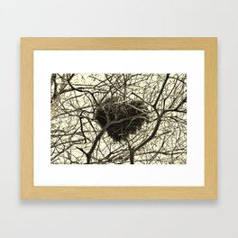 Heart-Shaped Nest Framed Art Print
