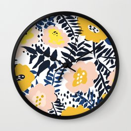 Annicks floral, modern pattern: matching to design for a happy life  Wall Clock