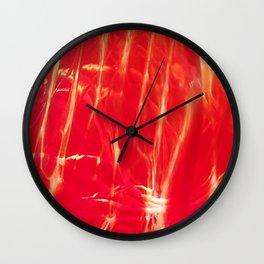Red shiny dragonglass Wall Clock