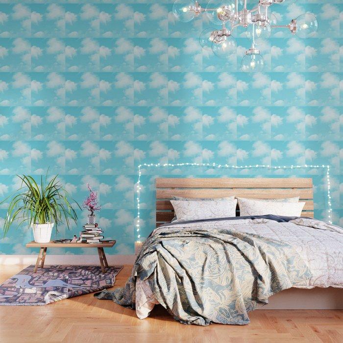 Aqua Blue Clouds Wallpaper