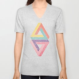 Holographic Candy Geometric Unisex V-Neck