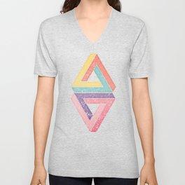 Holographic Candy Geometric Unisex V-Neck