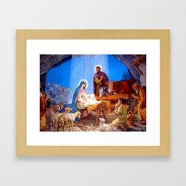 Nativity Scene Virgin Mary Child Jesus Saint Josef Holy Family Framed Art Print
