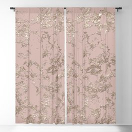 Blush Pink Marble Blackout Curtain