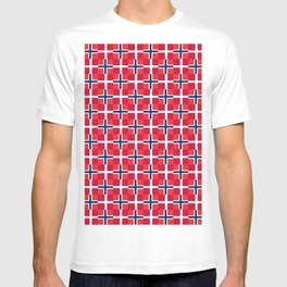 Mix of flag: norway and denmark T-shirt