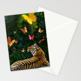 Tiger's Butterfly Friends Stationery Cards