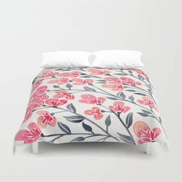 Cherry Blossoms – Pink & Black Palette Duvet Cover