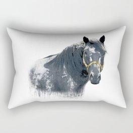 Horse with Golden Bridle Rectangular Pillow