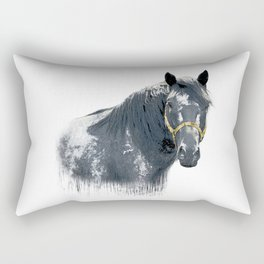 Horse with Golden Bridle Rectangular Pillow