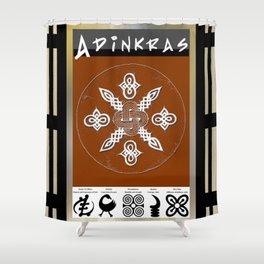 Adinkra Symbol Tote Bag Shower Curtain