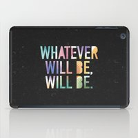 whatever iPad Cases featuring Whatever by TheSmallCollective