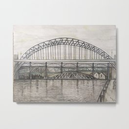 Newcastle Bridges Metal Print