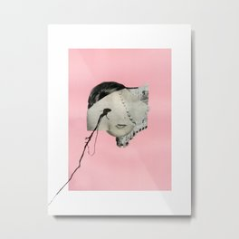 Medusa (Theme III, Pink) Metal Print