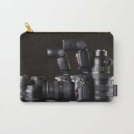Set of photographs DSLR camera, lens and flash Carry-All Pouch