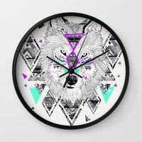 kris tate Wall Clocks featuring HONIAHAKA by Kyle Naylor and Kris Tate by Kyle Naylor