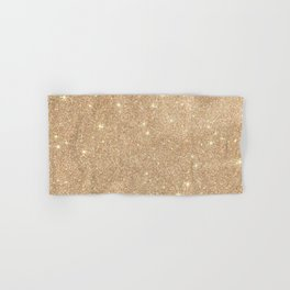 Gold Glitter Chic Glamorous Sparkles Hand & Bath Towel